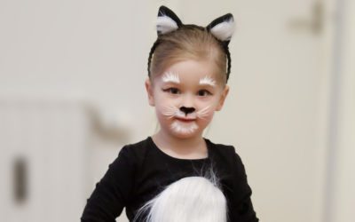 DIY cat costume + face paint step by step