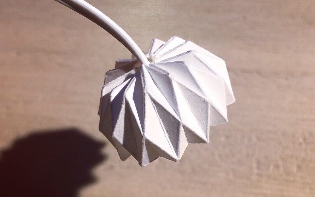 DIY miniature origami lamp
